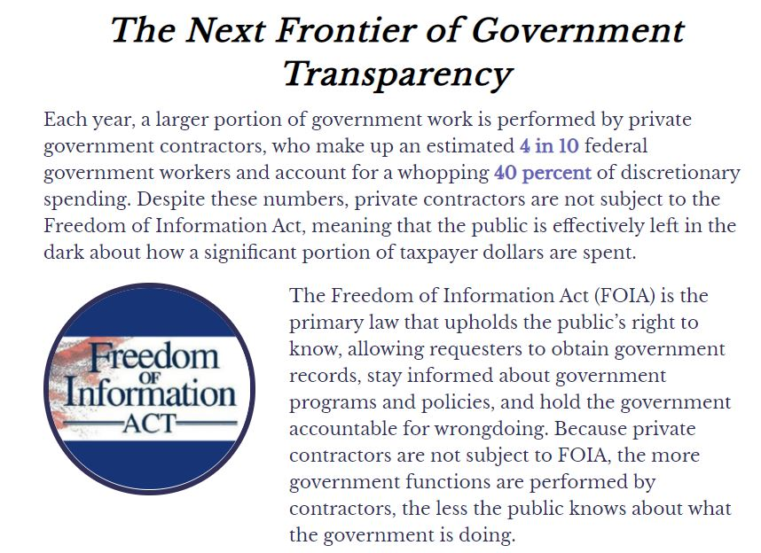 Applying FOIA to contractors such as Clearview is necessary