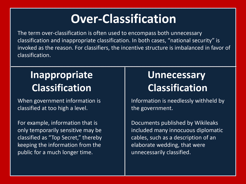 Overclassification